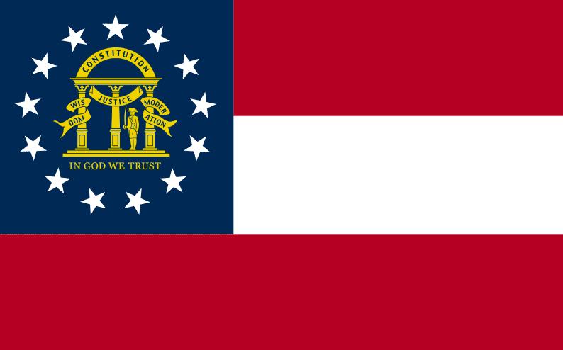 Illustration: Georgia state flag