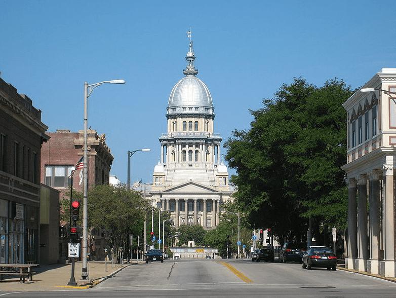 Photo: Illinois State Capitol in Springfield, Illinois