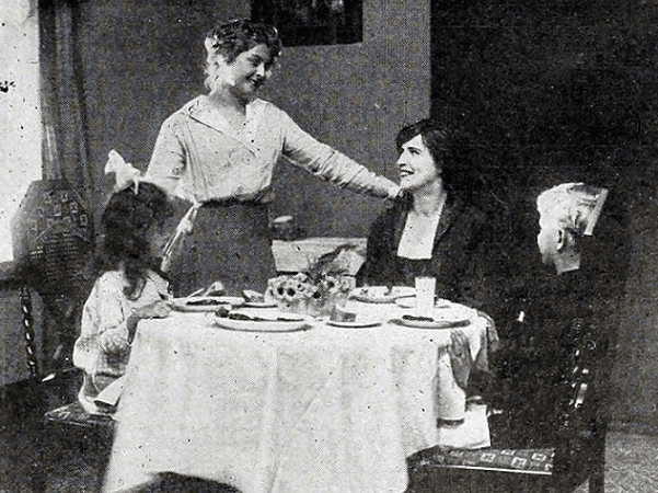 """Photo: """"Table Manners in the Nursery,"""" from the magazine """"The Moving Picture World,"""" July 1916. Credit: Internet Archive."""