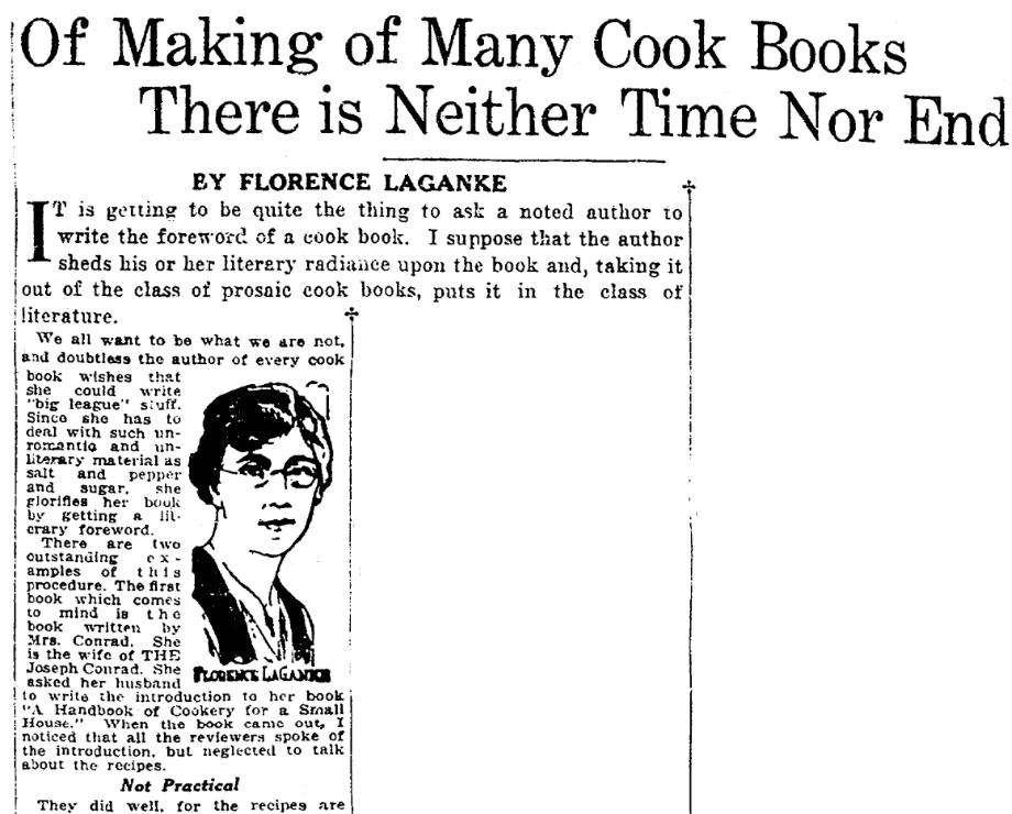 A book review, Plain Dealer newspaper article 1 December 1923