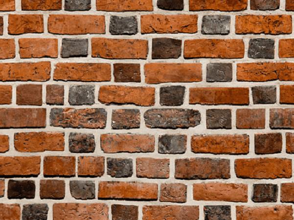 Photo: brick wall. Credit: Pawel Wozniak; Wikimedia Commons.