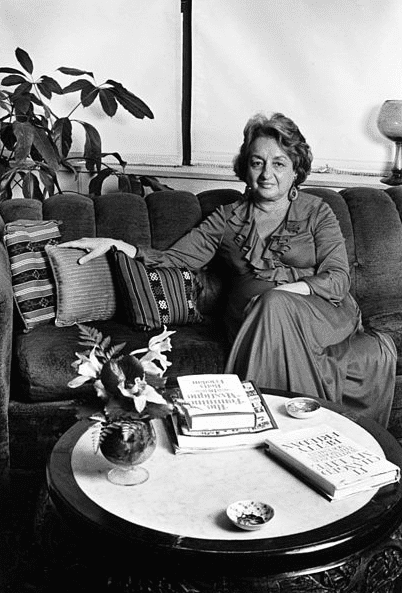 Photo: Betty Friedan as photographed in her home ©Lynn Gilbert, 1978