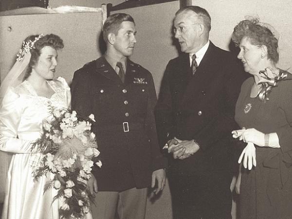 Photo: the wedding of Willard Kemp and Eleanor Huse