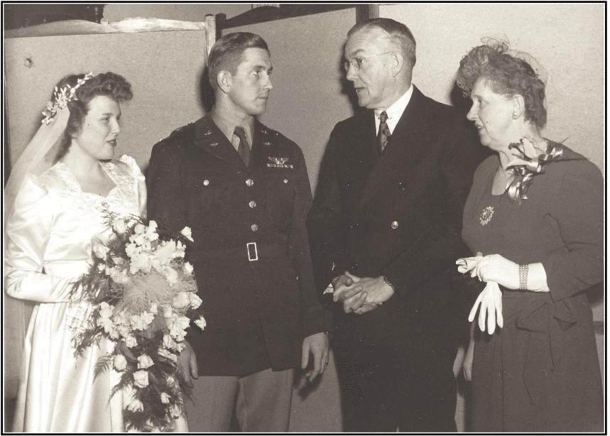 Photo: wedding of Willard Kemp and Eleanor Huse