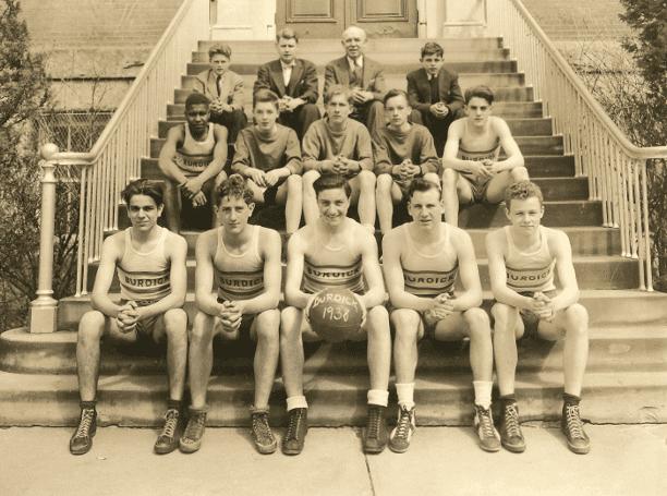 Photo: the 1938 Burdick school basketball team