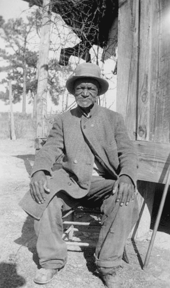 Photo: ex-slave Wes Brady, 4 December 1937