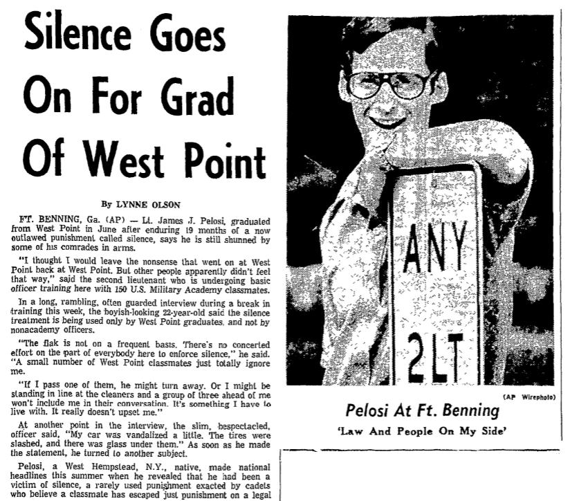 An article about James Pelosi, Durham Morning Herald newspaper article 21 September 197
