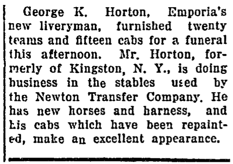 An article about George Horton, Emporia Gazette newspaper article 6 May 1915