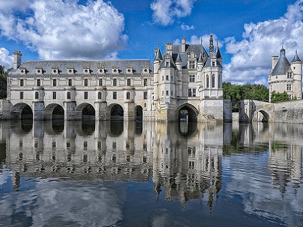 Photo: the Château de Chenonceau, nowadays part of a UNESCO World Heritage Site, was built in the early 16th century. Credit: Yvan Lastes; Wikimedia Commons.