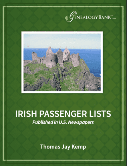 "Photo: cover of the ""Irish Passenger Lists"" ebook"