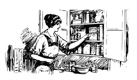 Illustration: woman cooking