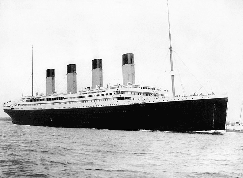 Photo: RMS Titanic departing Southampton on 10 April 1912