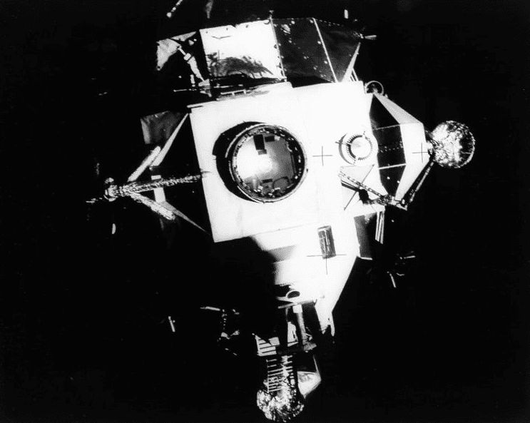 Photo: the Apollo 13 lunar module Aquarius is jettisoned above the Earth after serving as a lifeboat for four days. It reentered Earth's atmosphere over Fiji and burned up during reentry