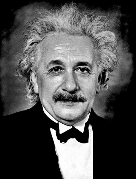 Photo: formal portrait of Albert Einstein taken in 1935 at Princeton, New Jersey