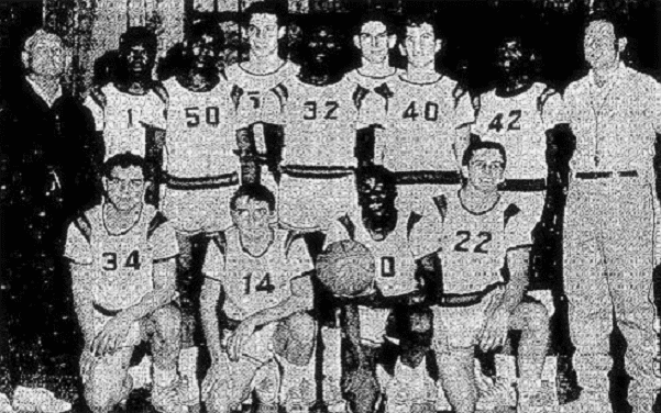 Photo: the Stamford High School basketball team, 1964