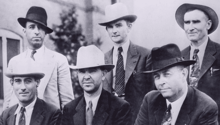 """Photo: the """"Gibsland posse"""" who killed Bonnie & Clyde on 23 May 1934"""