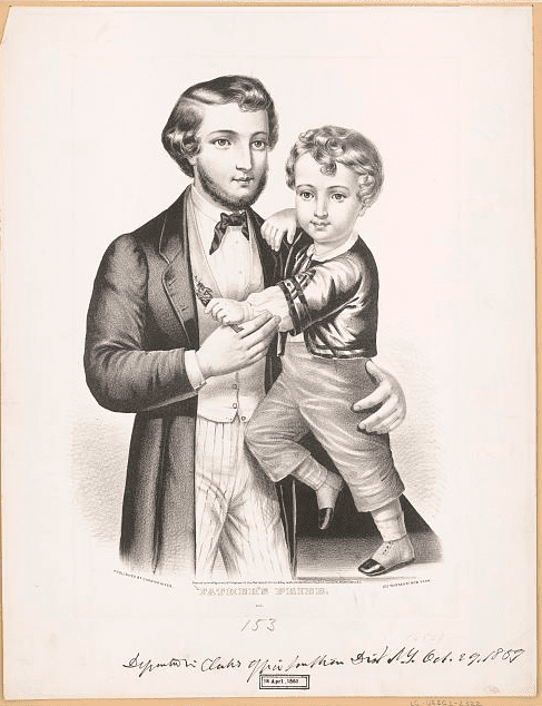 "Illustration: ""Father's Pride"" by Currier & Ives, c. 1859"