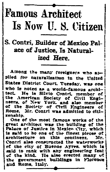 An article about citizenship and naturalization, New Orleans Item newspaper article 10 February 1914