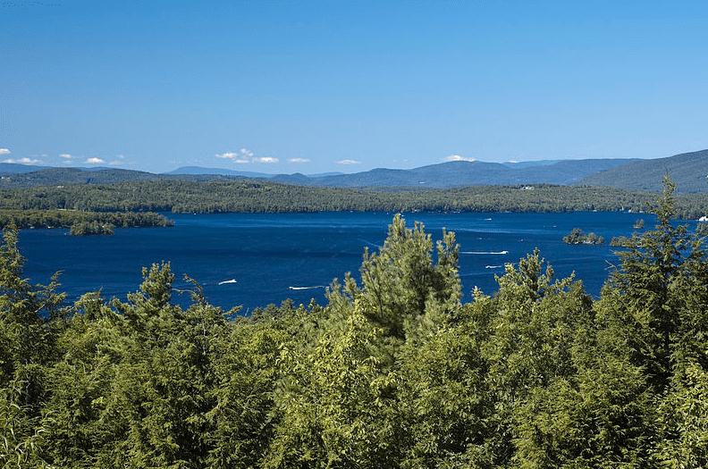 Photo: Lake Winnipesaukee and the Ossipee Mountains, New Hampshire