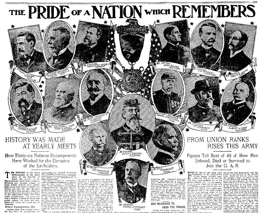 An article about the Grand Army of the Republic, San Francisco Chronicle newspaper article 17 August 1903