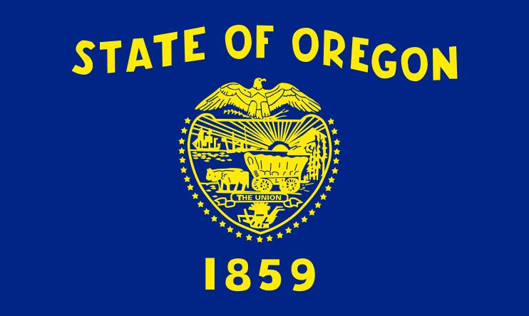 Illustration: Oregon state flag