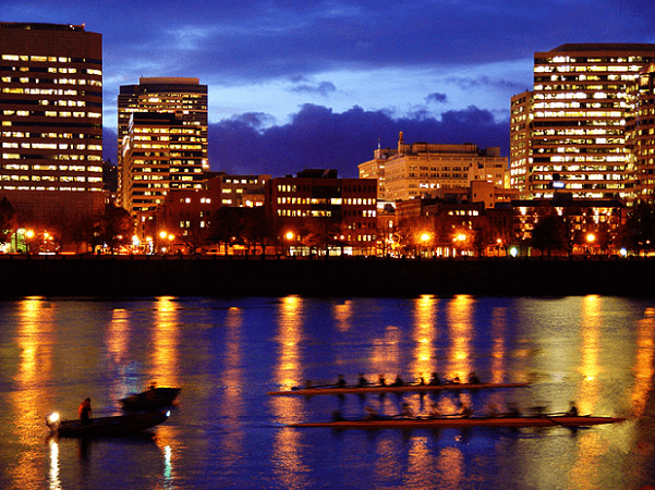 Photo: rowing on the Willamette River, Portland, Oregon. Credit: Kris from Seattle; Wikimedia Commons.
