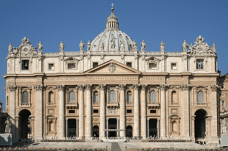 Photo: façade of St. Peter's Basilica in Vatican City, Italy