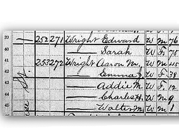 "Source: GenealogyBank, ""United States Census, 1880,"" database with images, GenealogyBank (https://genealogybank.com/#), Charles H Wright, Harrison, Westchester, New York, United States. (Original index: United States Census, 1880, FamilySearch, 2014)."