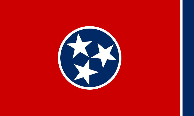 Illustration: Tennessee state flag