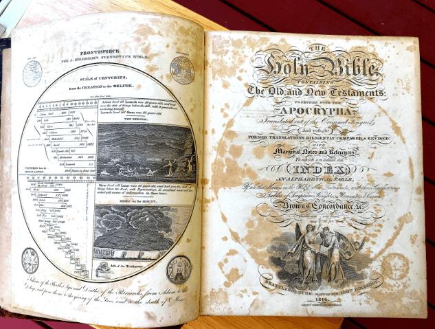 Photo: a family Bible
