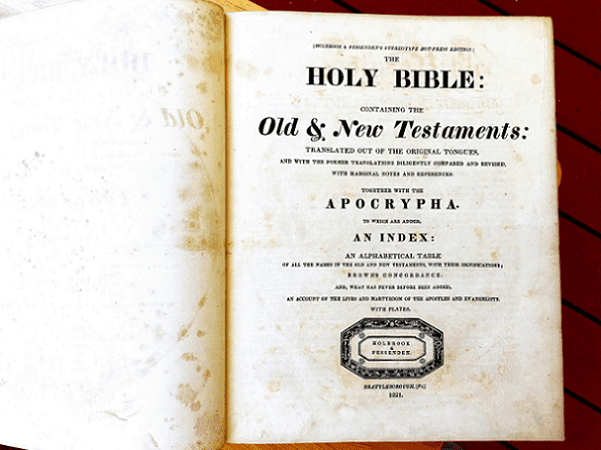 Photo: a family Bible