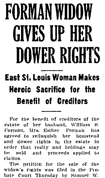 An article about land records, Belleville News Democrat newspaper article 22 September 1921