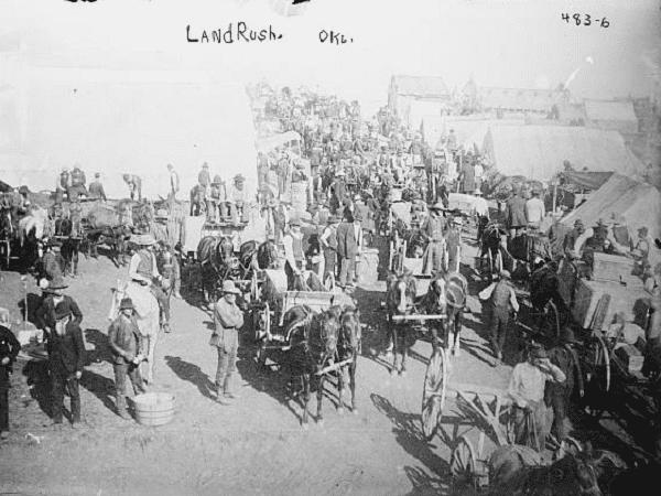 "Photo: ""Land rush, Okla. [Oklahoma]."" Credit: Library of Congress, Prints and Photographs Division."