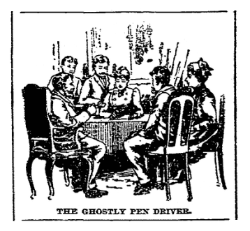 An article about a seance, Boston Herald newspaper article 22 March 1891