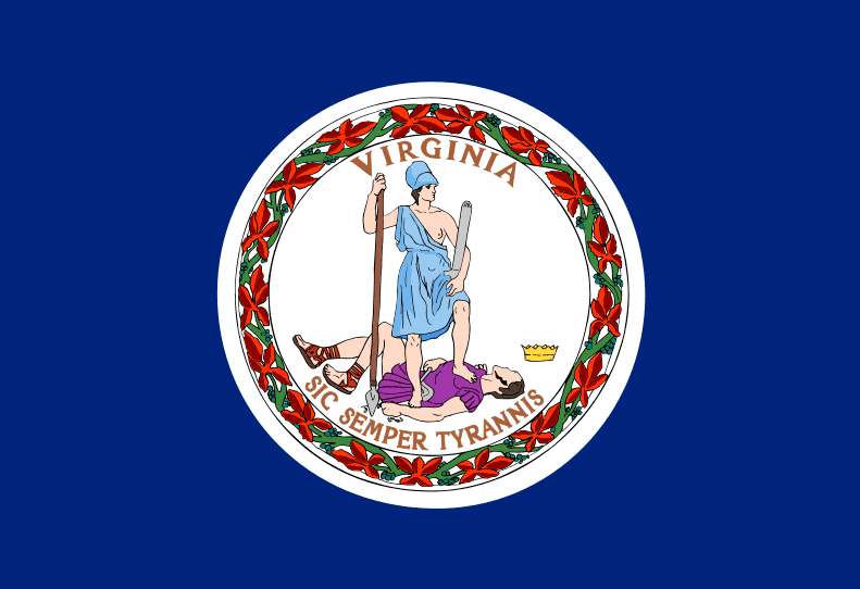 Illustration: Virginia state flag