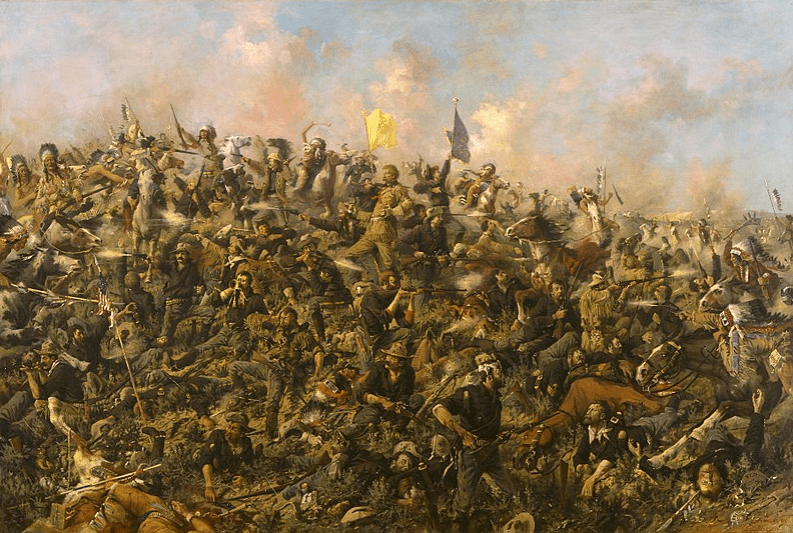 "Illustration: ""Custer's Last Stand,"" Edgar Samuel Paxson, 1899"