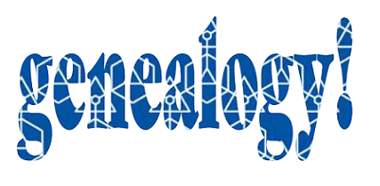 """Illustration: a logo made from the word """"genealogy"""""""