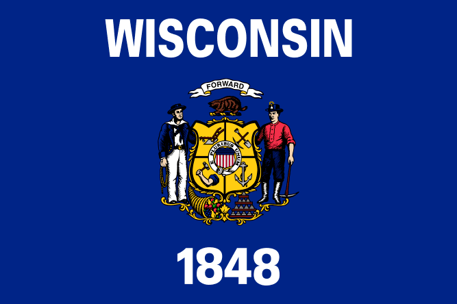 Illustration: Wisconsin state flag