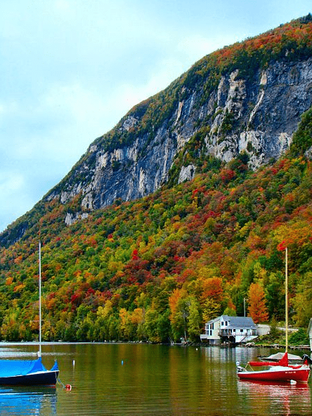 Photo: Mt. Pisgah flanks the eastern side of Lake Willoughby, Vermont