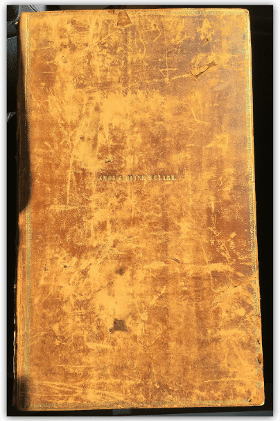 Photo: cover of the family Bible of Amos and Olive Clark