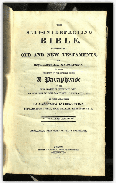 Photo: title page of the family Bible of Amos and Olive Clark