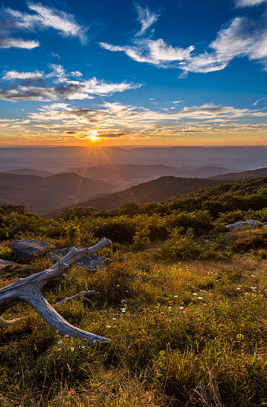 Photo: Blue Ridge Mountains, Shenandoah National Park, Virginia
