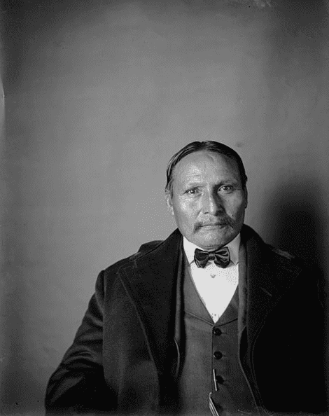 Photo: Lone Wolf the younger; aka, Lone Wolf the Second, originally named Mamamy-day-te, Mamay-dat-ta or Mamadayte (c. 1843-1923)