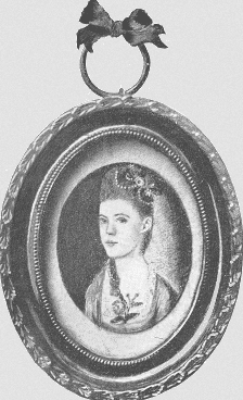 Illustration: miniature of Colonial diarist Anna Green Winslow