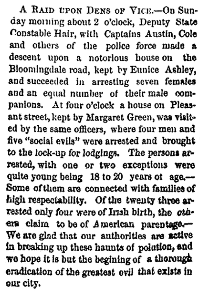 An article about Constable Charles Hair and the state police, National Aegis newspaper article 25 May 1867