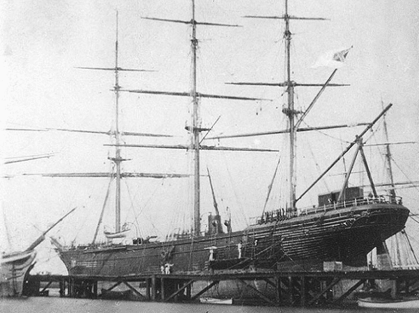 Photo: CSS Shenandoah in dry dock in Williamstown, Victoria, Australia, 1865. Credit: U.S. Naval Historical Center; Wikimedia Commons.