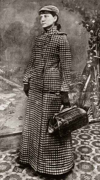 Photo: Nellie Bly, in a publicity photo for her around-the-world voyage