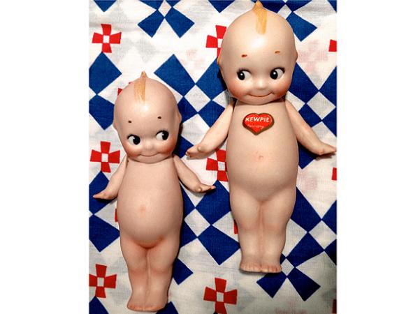 Photo: two German-made Kewpie dolls, c. 1912-1913. Credit: Scottdoesntknow; Wikimedia Commons.