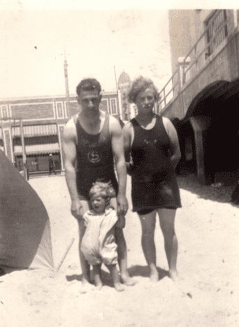 Photo: Oscar Philibert with his son Leo, along with his sister-in-law Lillie Chatham