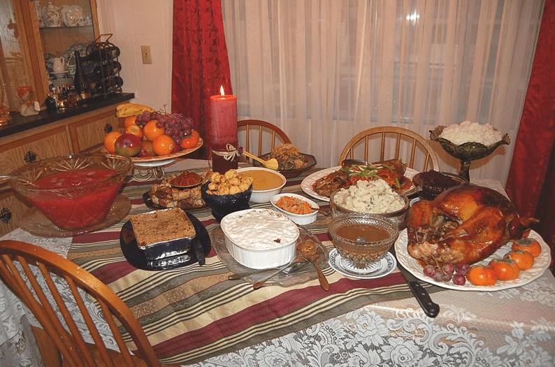 Photo: Thanksgiving dinner